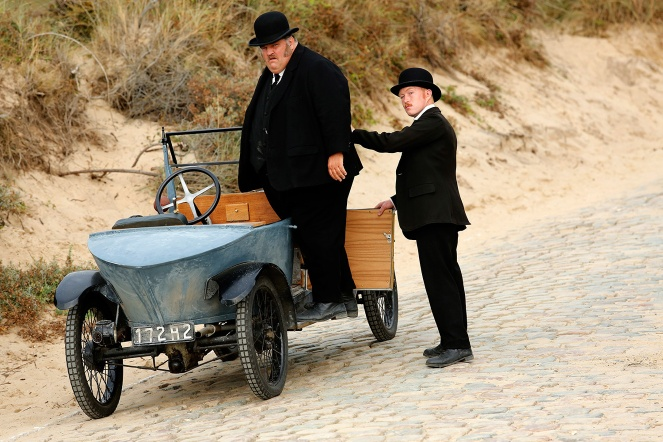 Chief Machin (Didier Després) and his assistant Malfoy (Cyril Rigaux) in Bruno Dumont's Slack Bay