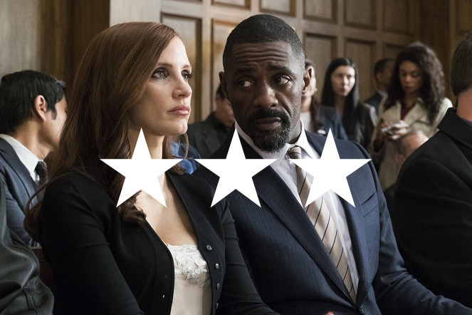 Chastain works well in the courtroom
