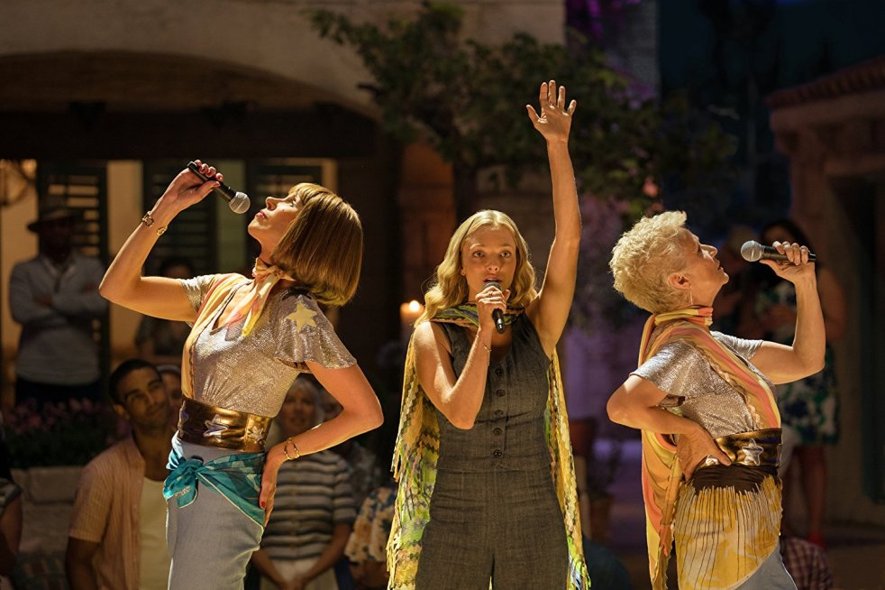 Christine Baranski, Lily James and Julie Walters in Mamma Mia! Here We Go Again