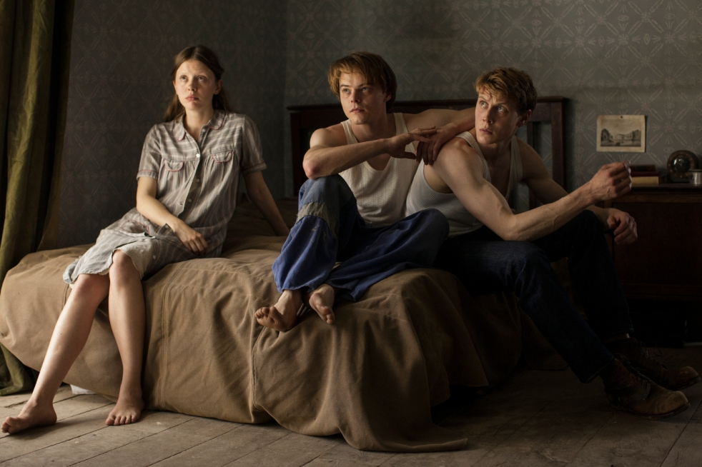 Mia Goth, Charlie Heaton and George MacKay in The Secret of Marrowbone