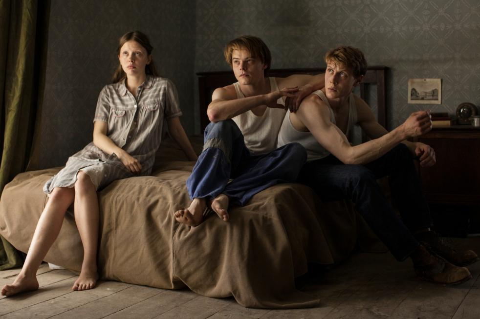 Mia Goth, Charlie Heaton and George MacKay in The Secret of Marrowbone