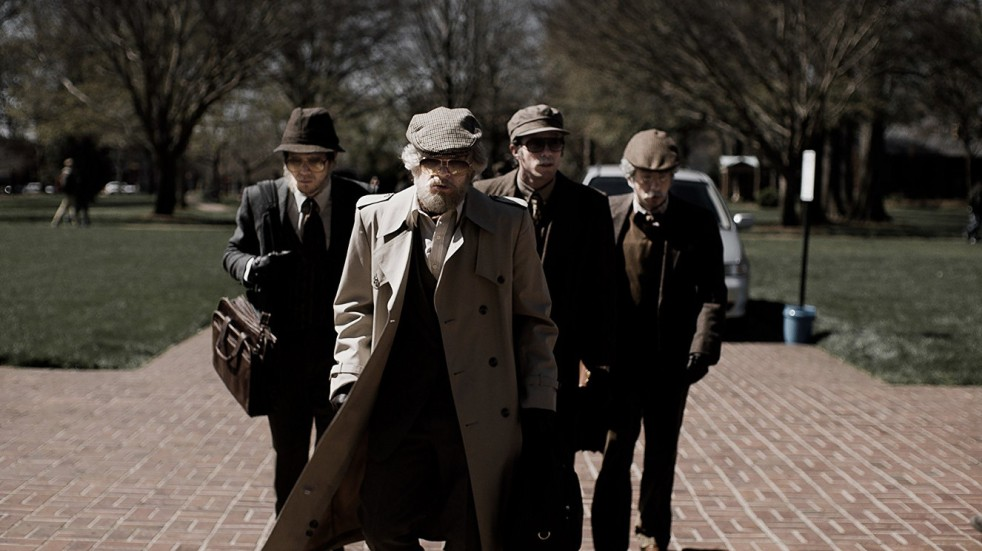 Evan Peters, Jared Abrahamson, Blake Jenner, and Barry Keoghan in American Animals