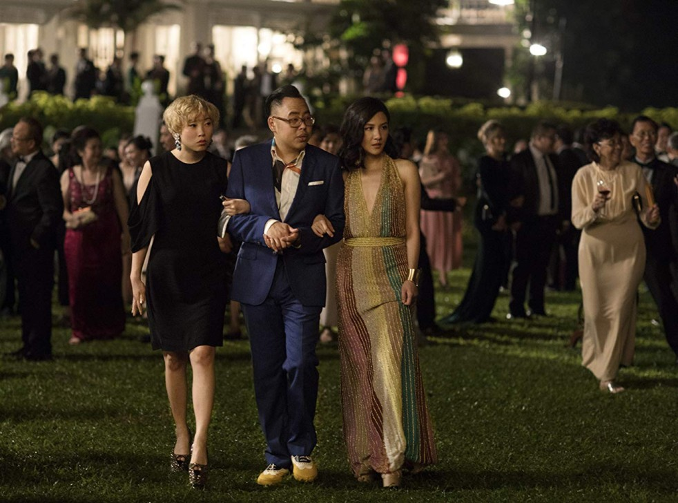 Constance Wu, Nico Santos, and Awkwafina in Crazy Rich Asians