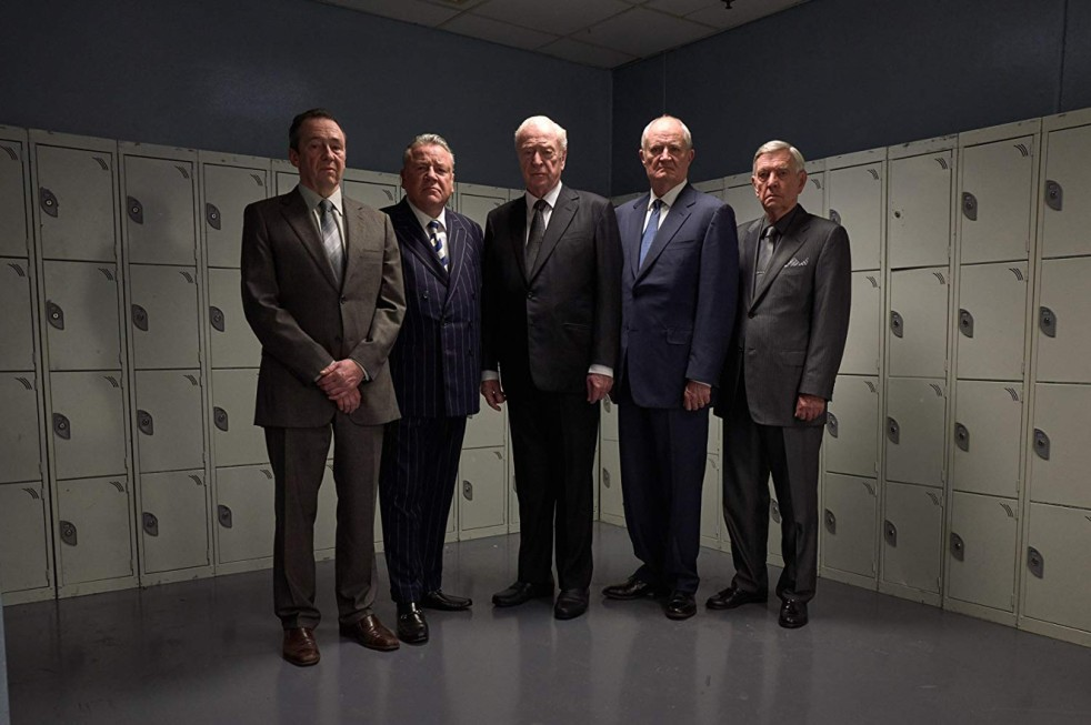Michael Caine, Jim Broadbent, Tom Courtenay, Paul Whitehouse, and Ray Winstone in King of Thieves