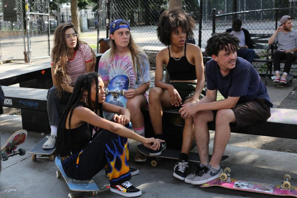 Rachelle Vinberg, Nina Moran, Ardelia Lovelace, and Ajani Russell in Skate Kitchen
