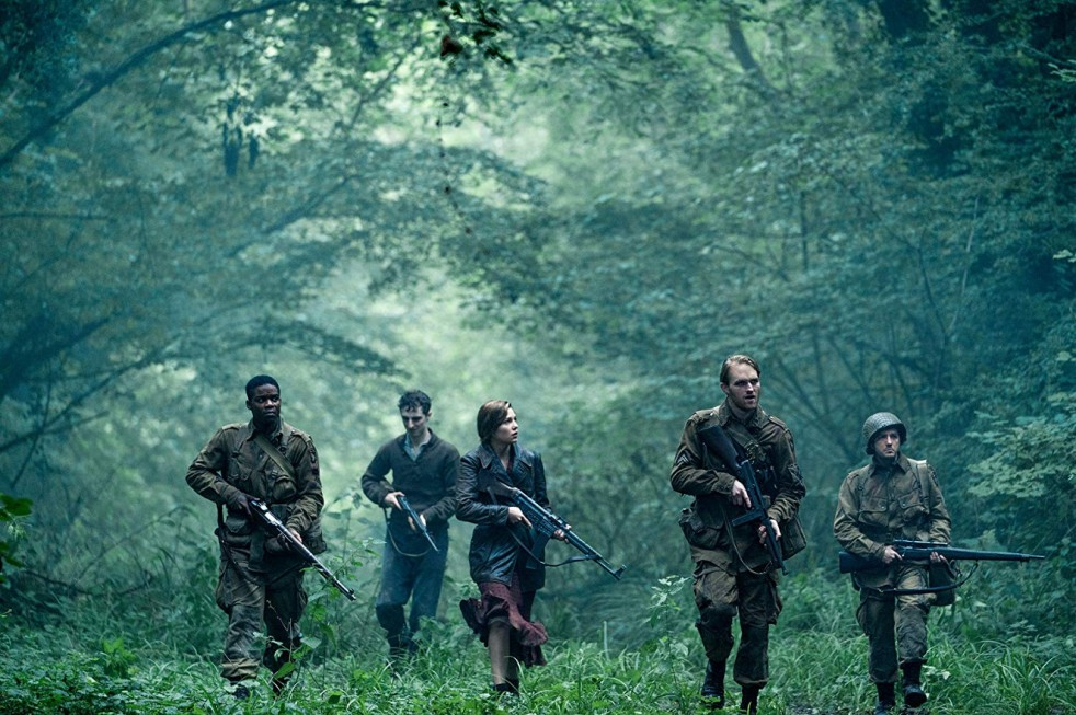 Wyatt Russell, John Magaro, Dominic Applewhite, Jovan Adepo, and Mathilde Ollivier in Overlord