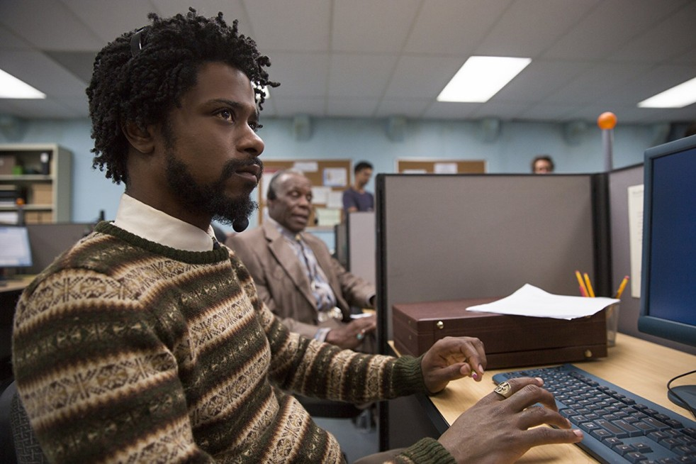 Lakeith Stanfield and Danny Glover in Sorry to Bother You