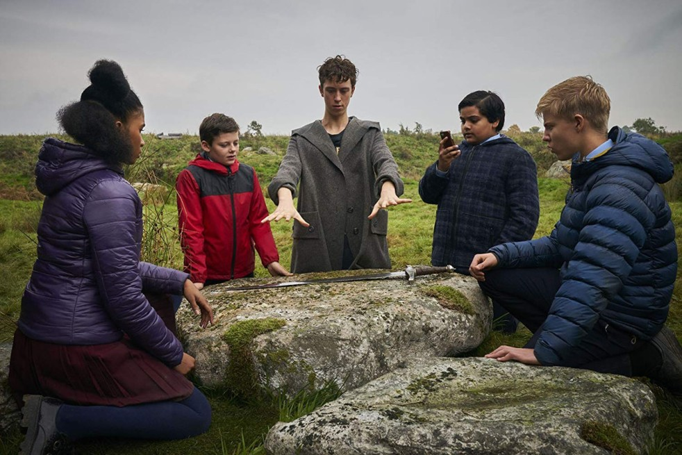 Angus Imrie, Louis Ashbourne Serkis, Tom Taylor, Rhianna Dorris and Dean Chaumoo in The Kid Who Would Be King