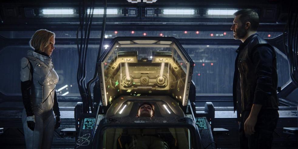 A still from the Love, Death & Robots episode: Beyond the Aquila Rift