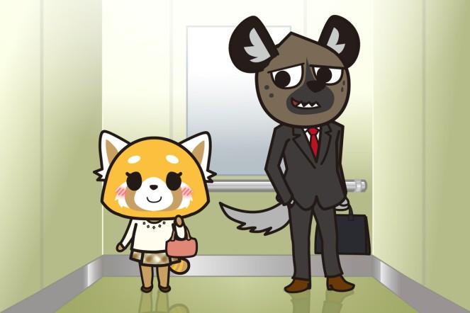 Retsuko and Haida in Aggretsuko Season 2