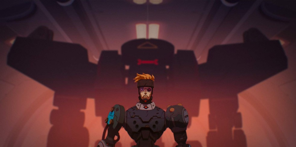 Still from the Love, Death & Robots episode Blindspot