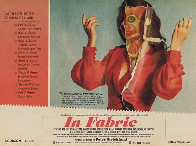 Poster for Peter Strickland's latest film, In Fabric